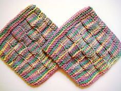 Soft Natural Dish Cloths  Wash Cloths  Hand by CozyKitchenKnits, $6.00