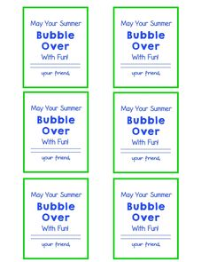 End of School Year Gift Bubbles Gift Tags and FREE Printable! Student Gift, Classmate Gift, Bubble Gift Tags