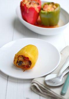 Gevulde paprika's uit de oven/ Stuffed Mexican Baked Peppers - Uit Paulines Keuken (recipe is in Dutch)