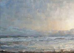 Julius Paulsen (Danish, 1860-1940), A foggy day at the coast, 1903. Oil on panel, 24 x 33 cm.