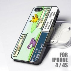 Cute Pokemon Pikachu Game Boy design for iPhone 4