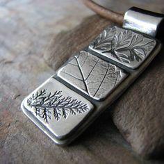PMC Artisan Pendant Leaf Quilt Study 2 Handmade por SilverWishes