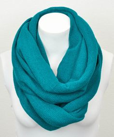 Take a look at this Leto Collection Teal Infinity Scarf on zulily today!