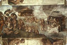 Capilla Sixtina: La inundación, 1508-1512 - Miguel Ángel