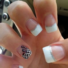 -- Classic white, with a silver glitter smile line annnnd of course some animal print :) Possibly for my next appointment!