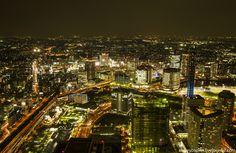 Ночная Йокогама.