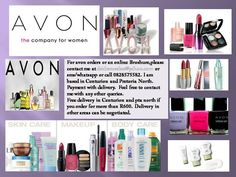 Avon Representative : Deidre Rosslee             Contact Details :  Cell: 0828575582            E-Mail: deidrerosslee@yahoo.com             Free delivery in Pretoria North and Centurion areas ( for Items totaling more than R600 )