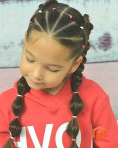49 Cute and Sweet Hairstyle for School Coiffure Mignonne Et Douce Pour L'école 20 Sweet Hairstyles, Cute Little Girl Hairstyles, Little Girl Braids, Girls Natural Hairstyles, Cute Girls Hairstyles, Princess Hairstyles, Girls Braids, Hairstyles For School, Curly Hair Styles