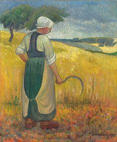 Paul Serusier - 1889 jeune bretonne à la faucille