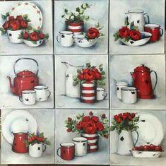 Decoupage Vintage, Decoupage Paper, Diy And Crafts, Arts And Crafts, Paper Crafts, Vintage Pictures, Vintage Images, Tea Art, Still Life Art