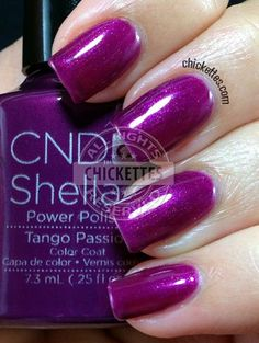 nails.quenalbertini: CND Shellac Paradise Collection Summer 2014 - Tango Passion