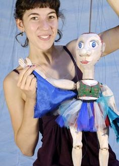 """Puppets from """"Puppets in Prague"""" workshops"""
