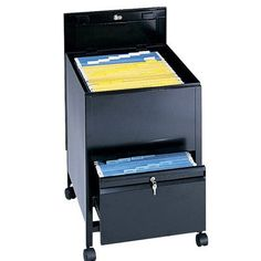 Safco Products Legal Tub File Cart Finish: Black