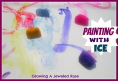 Ice painting- a fun way to cool things off on a hot day!