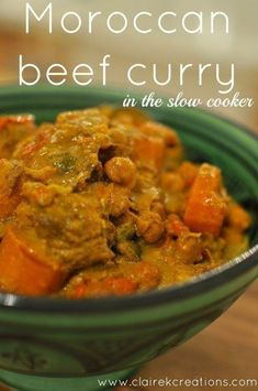 Moroccan beef curry in the slow cooker - Claire K Creations