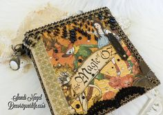 Check out this stunning Graphic 45 Magic of Oz mixed media album that I made using a variety of Graphic 45 Paper crafting supplies. Halloween Mini Albums, Magic Of Oz, Spellbinders Cards, Hp Printer, Graphic 45, Card Kit, Cool Tools, Hobbies And Crafts, Craft Supplies