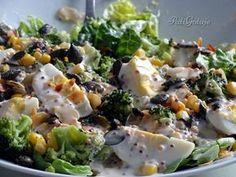 Sałatka z brokułami, kukurydzą i jajkiem Salad Recipes, Cake Recipes, Healthy Recipes, Coleslaw, Potato Salad, Grilling, Food And Drink, Menu, Tasty