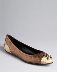 Burberry Check Ballet Flats - Haymarket Yates - New Arrivals - Boutiques - Shoes - Bloomingdales Purple Shoes, Shoe Boutique, Workout Wear, Ballet Flats, Burberry, Boutiques, Check, Editorial, How To Wear