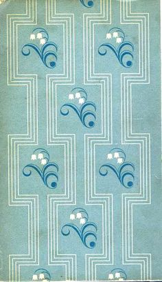 Lily-of-the-Valley - Reader's Digest - Patterned Paper Book Cover Textiles, Textile Patterns, Craft Patterns, Textile Design, Paper Book Covers, Art Nouveau, Motif Art Deco, Art Deco Furniture, Love Wallpaper