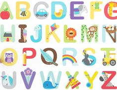 Alphabet Wall Stickers - Buy ABC Wall Stickers