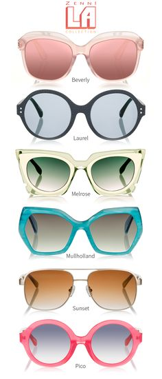 260b5d34cb81 Bold and playful. Impossibly chic. Effortlessly cool. Shop Zenni s LA  Collection. Prescription