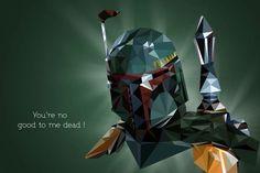 Boba Fett - Polygonal Star Wars Portraits by Vladan Filipovic