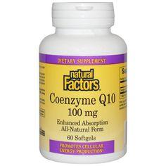 จำหน่าย ซื้อ ขาย อาหารเสริม แอสต้าแทนซิน coq10 ราคาส่ง ยี่ห้อ Natural Factors, Coenzyme Q10, Enhanced Absorption, 100 mg, 60 Softgels