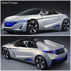 How awesome is this #Honda #EV #Concept #car? It's giving me a #Tron vibe with the those #blue #lights and that #futuristic #body #design!