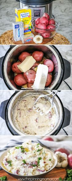 One of the best uses for the Instant Pot is making Mashed Potatoes! They cook quickly and come out creamy and dreamy in no time. This Instant Pot Mashed Potatoes recipe has just a few ingredients that are easy to keep on hand so it is easy to make them as Instant Pot Mashed Potatoes Recipe, Making Mashed Potatoes, Mashed Potato Recipes, Instant Pot Red Potatoes, Pressure Cooker Mashed Potatoes, Instant Pot Veggies, Garlic Mashed Potatoes, Cheesy Potatoes, Jars