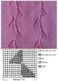 szydelko i idruty na Stylowi. Lace Knitting Stitches, Lace Knitting Patterns, Knitting Charts, Lace Patterns, Knitting Designs, Baby Knitting, Knitting Needles, Crochet Baby, Google Translate
