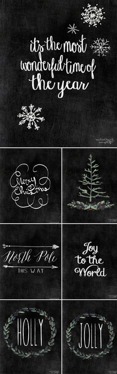 Free Christmas Printables (Part II) (We Lived Happily Ever After)