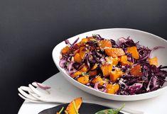 Gebratener Kürbis-Rotkraut-Salat mit Kren