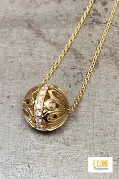 Beautiful detailed and diamond set gold pendant by Flora Bhattachary Bespoke Jewellery, Gold Pendant, Wedding Bands, Flora, Fine Jewelry, Gold Necklace, Jewelry Design, Engagement Rings, Gemstones