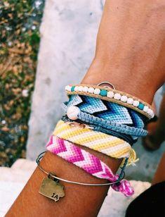 Darling Make Alphabet Friendship Bracelets Ideas. Wonderful Make Alphabet Friendship Bracelets Ideas. Summer Bracelets, Cute Bracelets, Braided Bracelets, Summer Jewelry, Ankle Bracelets, Gold Bracelets, Handmade Bracelets, Colorful Bracelets, Thread Bracelets