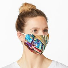 """""""Street Photograph - Centre Place in Melbourne Australia Mask by Pultzar Australia 2017, Melbourne Australia, Places In Melbourne, Spandex Fabric, Snug Fit, Face Masks, Centre, Photograph, Street"""