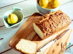 Coconut and lemon yoghurt loaf, the best cake you could make this week! Perfect uniced, freezer friendly, kid friendly and extra yummy. Lunch Box Recipes, Lunch Snacks, Sweets Recipes, Fruit Recipes, Real Food Recipes, Cooking Recipes, Lunchbox Ideas, Recipies, Healthy Recipes