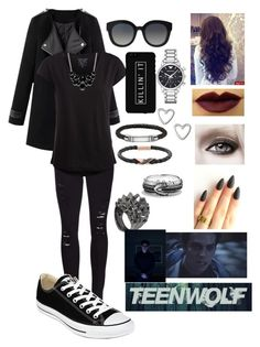 Teen Wolf: Void Stiles by binapaige on Polyvore featuring mode, Pieces, Frame Denim, Converse, Stephen Webster, Emporio Armani, David Yurman, Thomas Sabo, Swarovski and Style & Co.
