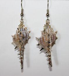 Striking Mermaid Shell Earrings by MermaidScalesbyVal on Etsy, $10.00