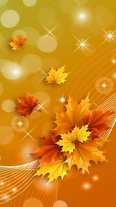 Fall Backgrounds Iphone, Leaves Wallpaper Iphone, Flowery Wallpaper, Flower Phone Wallpaper, Graphic Wallpaper, Wallpaper Iphone Cute, Flower Backgrounds, Cellphone Wallpaper, Colorful Wallpaper