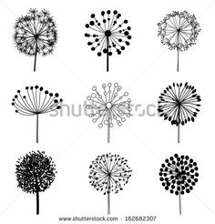 Floral Elements for design, dandelions. EPS10 Vector illustration - stock vector