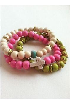 Bijouterie Jewelry Exclusive Neon and Neutral Stack Bracelet
