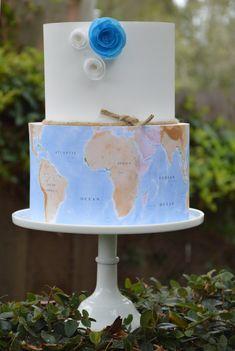 map cake, edible map, world map , cake , map cake, pilot cake, map frosting sheets, etsy, world map edible image,