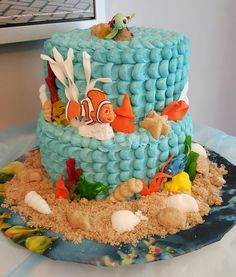 Finding Nemo and or Dory birthday cake by Save the World Bakery