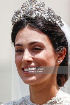 The magnificent Hanover floral tiara was worn yesterday when Prince Christian of Hanover and Alesandra de Osma celebrated their 'religious wedding', they'd had the 'civil' wedding on 24 November 2017
