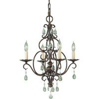 "Feiss MF19044MBZ Mini Chandelier 17"" Width  MF19044MBZ  #@%.16   Mocha Bronze  fergusons"