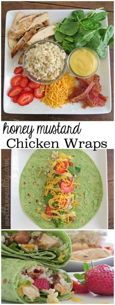 These Honey Mustard Chicken Wraps are super easy to throw together any day of the week! An easy recipe that's delicious, too. Easy Meal Idea