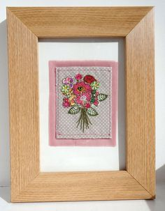 Framed floral artwork / picture. Pink Bouquet. by DaysInDesign, $24.50