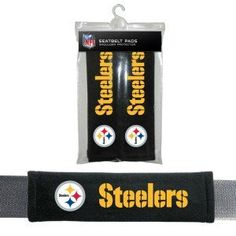 Pittsburgh Steelers Velour Seat Belt Pads