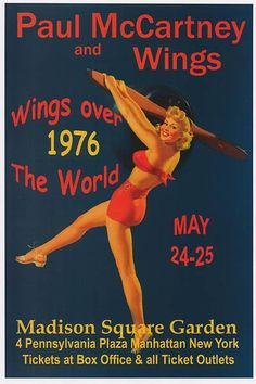 PAUL MCCARTNEY AND WINGS POSTER 1976