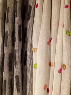 Handpainted foulards. By Tulip